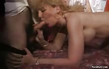 Dirty mature blonde gets her pussy fucked hardcore in gangbang