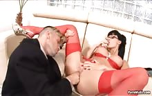 Secretaries 3 S 4 with Choky Ice and Aletta Ocean