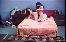 Three hot lesbians fucking their cunts with toys