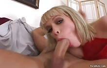 Hot blonde Kissy Kapri gets her asshole banged hard with John Strong