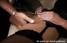 MILF cums intensely while being finger fucked