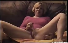 Mom gets to play with her dildo and black boytoy