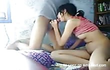 Chinese couple having sex in front of the webcam