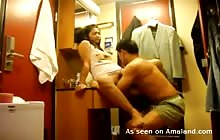 Asian couple fucking in various positions