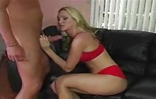 Blonde pornstar Alexis Malone rides big dick