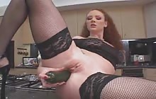 Dirty Audrey Hollander gets all sorts of stuff in her holes
