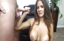 MILF fucks step son on camera