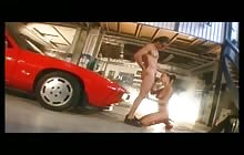 Redhead babe Aya Nielsen gets fucked by a mechanic