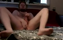 Dirty fag masturbating