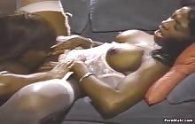 Pretty ebonies Mauvais DeNoir and Dominique Simone get banged by a black cock with Domonique Simone