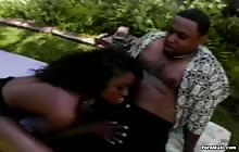 Sexy black chick Monique gets fucked outdoor