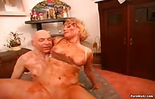 Horny blonde MILF gets fucked hardcore  in the cunt