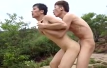 Dirty Asian dude fucked and facialized by his partner