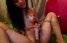 Amateur Asian babe webcam show