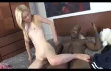 Skinny teen Kennedy Kressler gets banged by a BBC