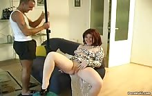 Redhead MILF gets her cunt fucked and fisted